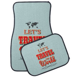 Let's travel the world car mat