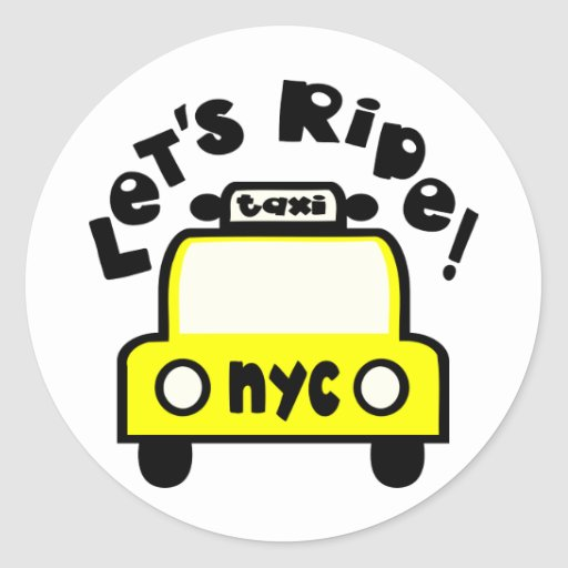 Let'sRide! With NYC Retro Taxi Cab Stickers