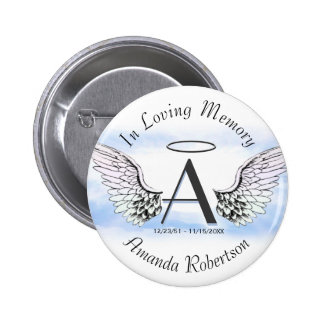 Letter A | Add Name | Memorial 2 Inch Round Button