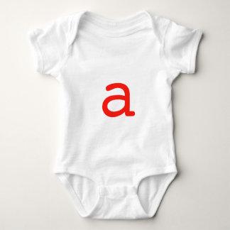 Letter a baby bodysuit