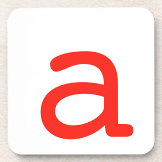 Letter a coaster