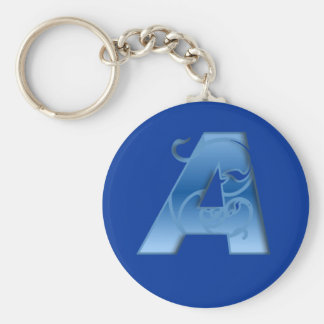 Letter A Keychain