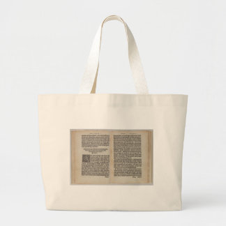 Letter A Large Tote Bag