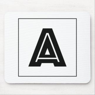 Letter A Monogram | Simple, Modern, Minimal Mouse Pad