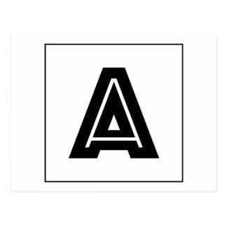 Letter A Monogram | Simple, Modern, Minimal Postcard