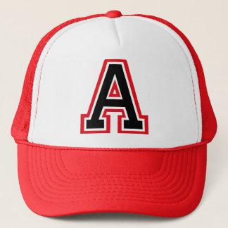"""Letter """"A"""" Monogram Trucker Hat"""