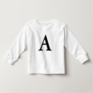 Letter A monogrammed initial tshirt