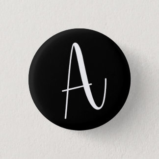 """Letter """"A"""" - Round Initial Badge 1 Inch Round Button"""