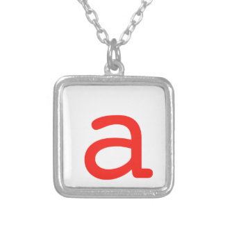 Letter a silver plated necklace