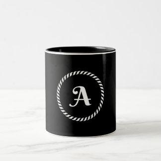 Letter A Two-Tone Coffee Mug
