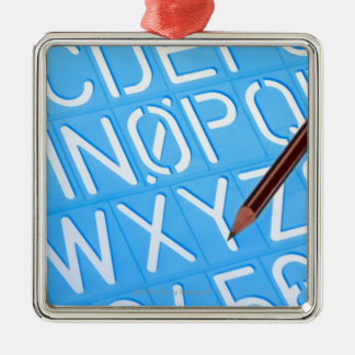 Letter and number template metal ornament