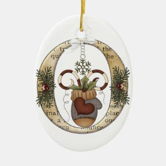 Letter Art - O - Christmas Mitten Ornament