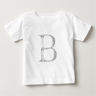 Letter B Bone Initial Baby T-Shirt
