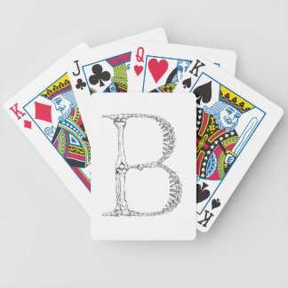 Letter B Bone Initial Bicycle Playing Cards