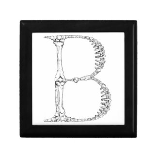 Letter B Bone Initial Gift Box