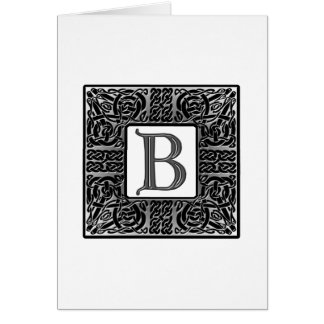 Letter B Celtic Monogram Note Cards