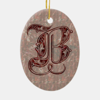 Letter B Ceramic Ornament