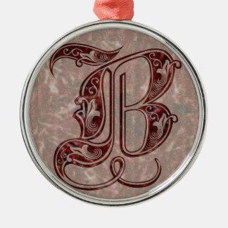 Letter B Metal Ornament