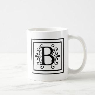 Letter B Monogram Coffee Mug