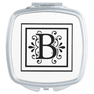Letter B Monogram Compact Mirror