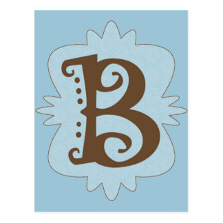 Letter B Monogram Design Postcard