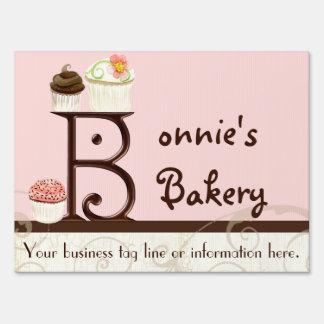 Letter B Monogram Dessert Bakery Business Signage