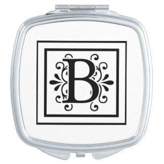 Letter B Monogram Travel Mirrors