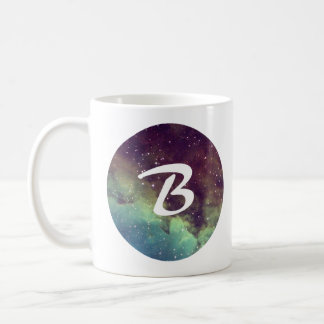 Letter 'B' Name Mug with Space Print Personalize