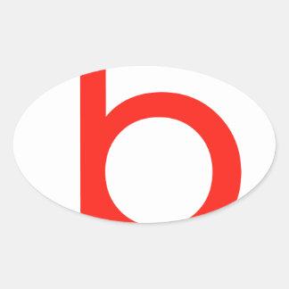 Letter b oval sticker