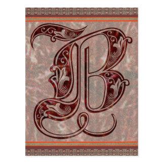 Letter B Postcard