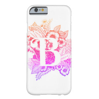 Letter B print - Alphabet, Calligraphy, Typography Barely There iPhone 6 Case