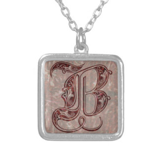 Letter B Silver Plated Necklace