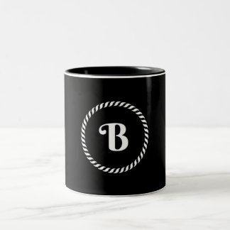 Letter B Two-Tone Coffee Mug