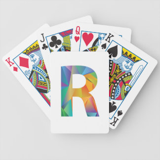 letter bicycle playing cards