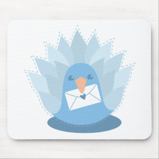 Letter Bird peacock with mail Mouse Pad