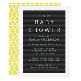 Letter Board Baby Shower Invitations