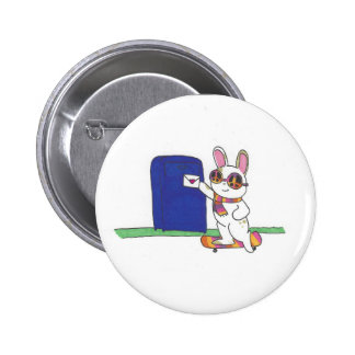 Letter Bunny 2 Inch Round Button