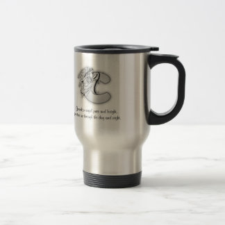 Letter C angel monogram alphabet Travel Mug