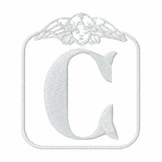Letter C Angel Monogram Embroidered Shirt