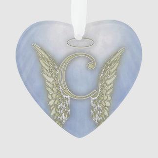 Letter C Angel Monogram Ornament
