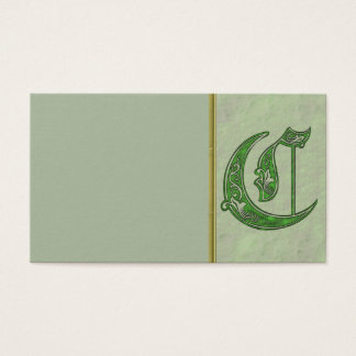 Letter C Business Card