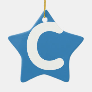 Letter C emoji Twitter Ceramic Ornament