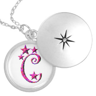 Letter C Initial Lockets