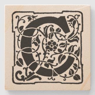 Letter 'C' Momogram Stone Coaster