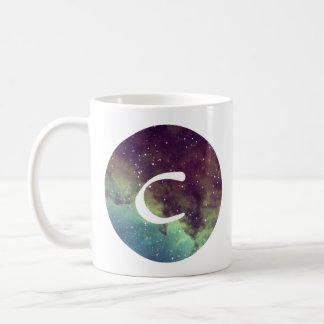 Letter 'C' Name Mug with Space Print Personalize
