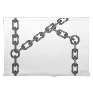 letter chain placemat