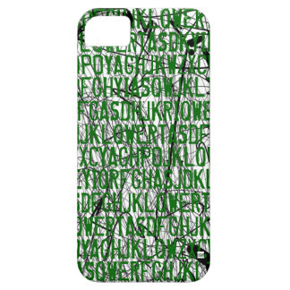 Letter Code Scratch Green iPhone 5 Case