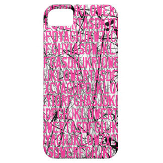 Letter Code Scratch Pink iPhone 5 Case