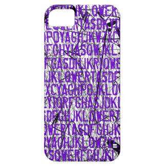 Letter Code Scratch Purple iPhone 5 Case
