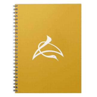 Letter crane of length notebooks